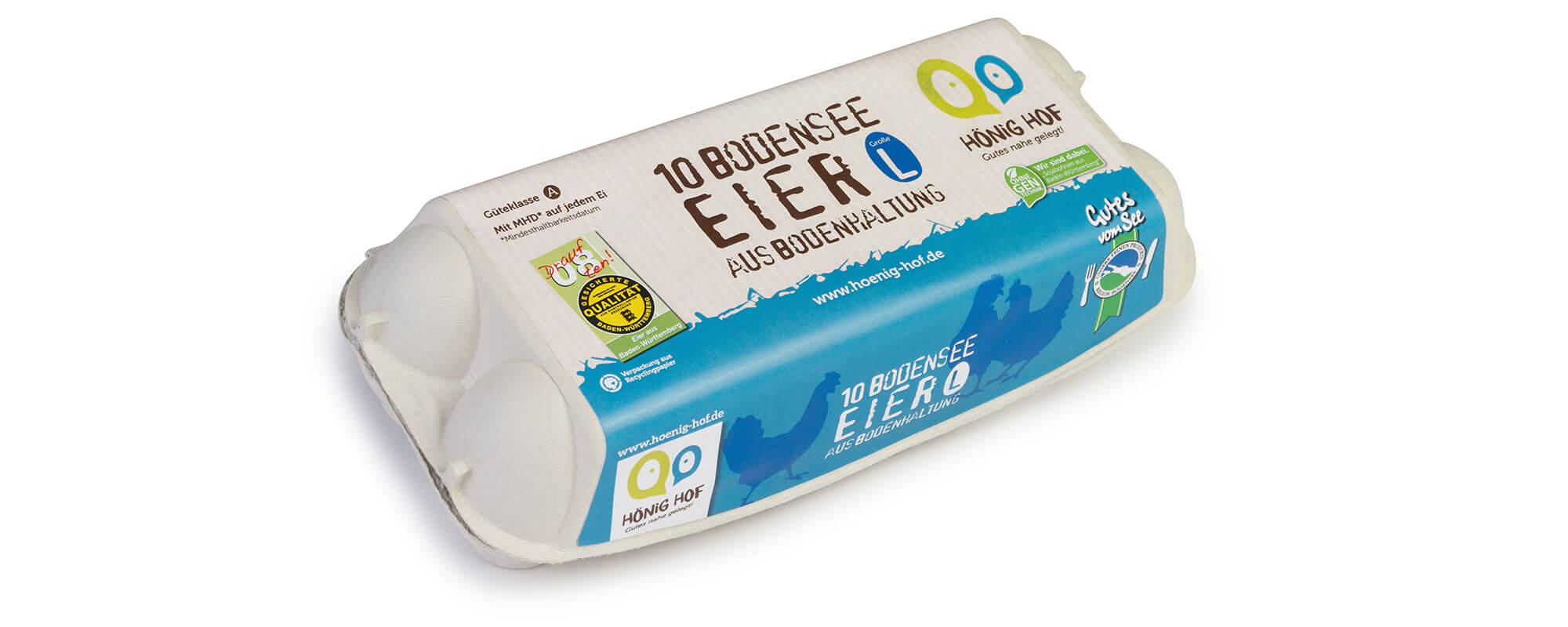 10er Bodensee-Eier aus Bodenhaltung, Größe L
