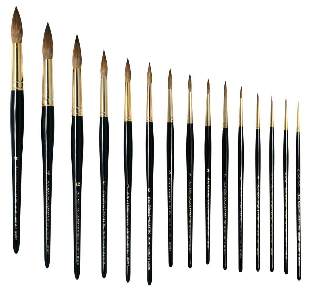 da Vinci Watercolor Series Artissimo Paint Brush Size 4 Round Pure Kolinsky Red Sable 428-04