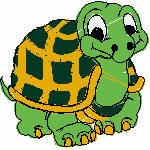 Schildkröte, 95x95 mm, 6866 Stiche