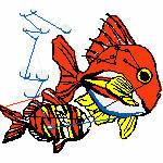Fische bunt, 98x88 mm, 11683 Stiche