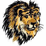 Löwenkopf, 89x98 mm, 7854 Stiche