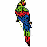 Papagei, 58x161 mm, 11087 Stiche