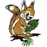Eichhörnchen mit Zapfen, 77x98 mm, 3780 Stiche, nicht ganz gefüllt, bitte hellen Untergrund wählen