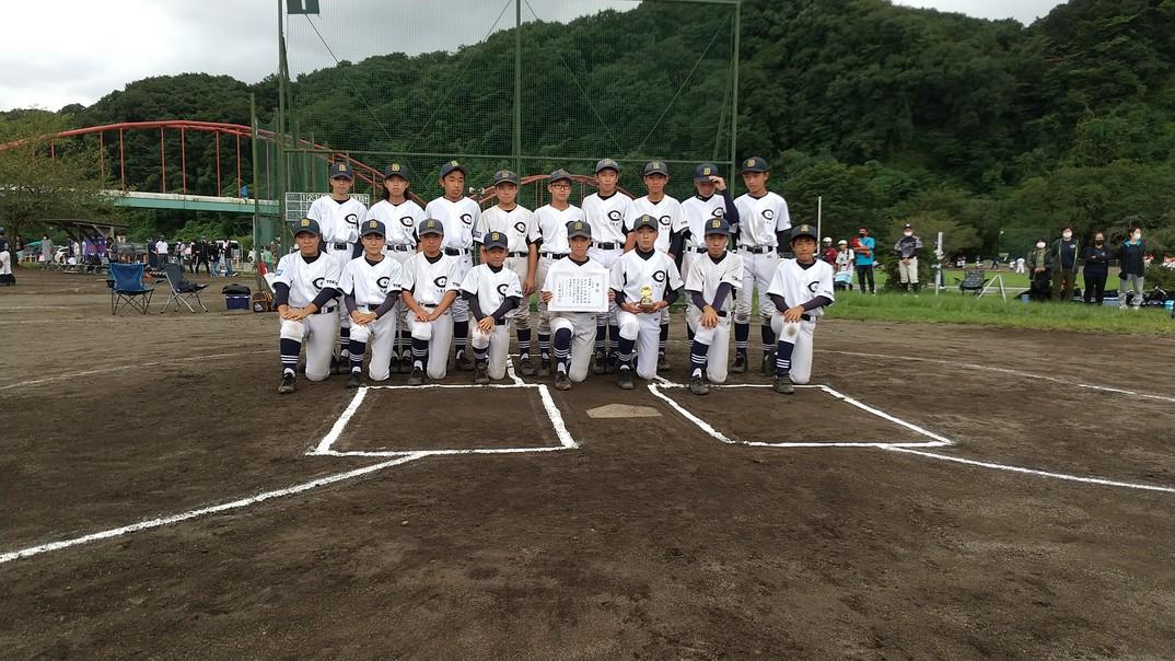 第46回 少年軟式野球(中学)秋季大会 準優勝 八王子WJHBC-B 令和3年9月5日