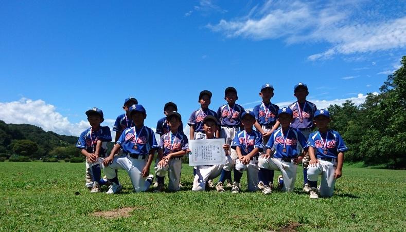 第33回 新人戦 第3位・つくしシャークス(学童) 平成30年8月25日