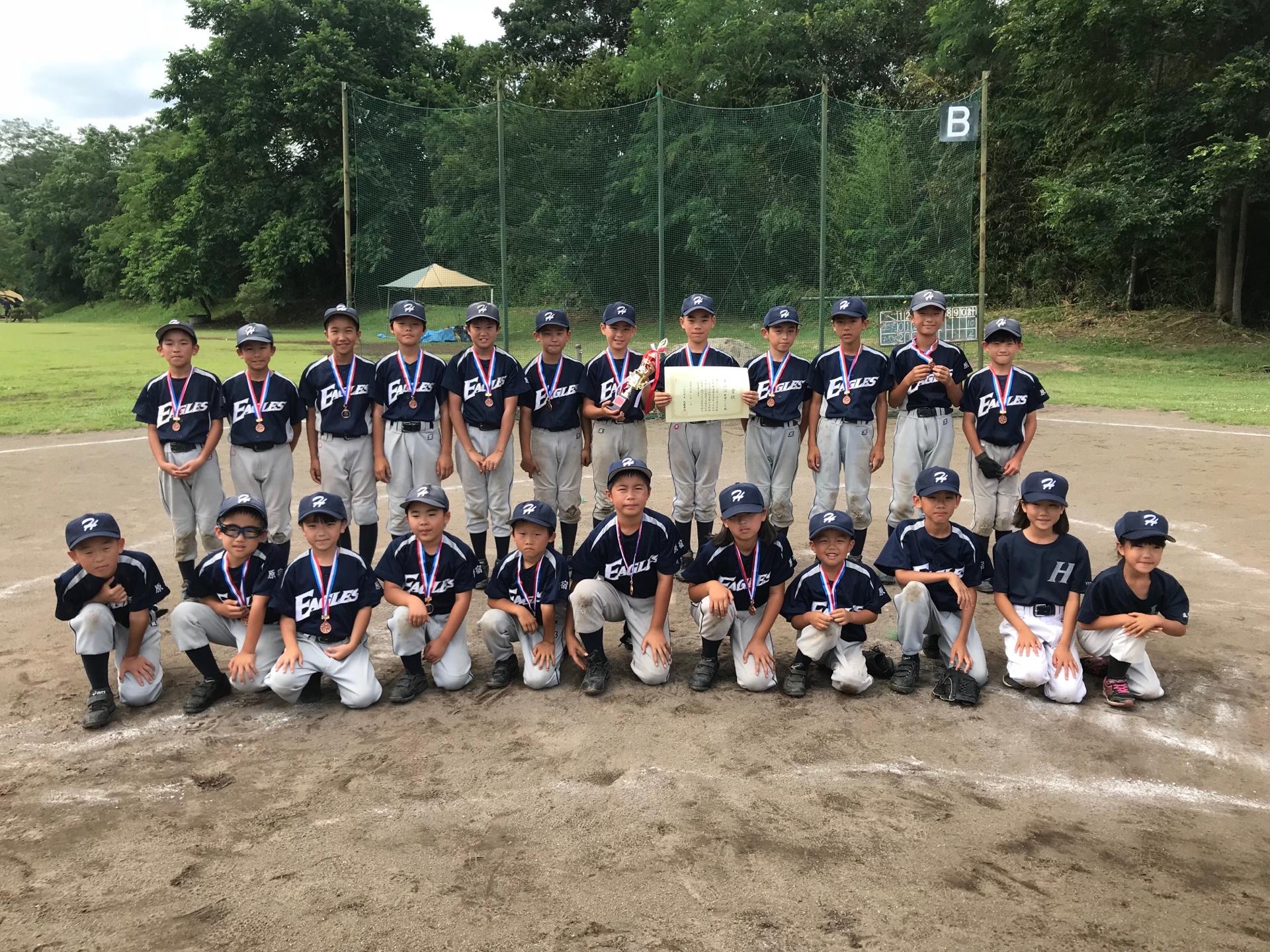 第25回市長杯争奪少年野球大会・第3位  原宿イーグルス 平成30年7月1日