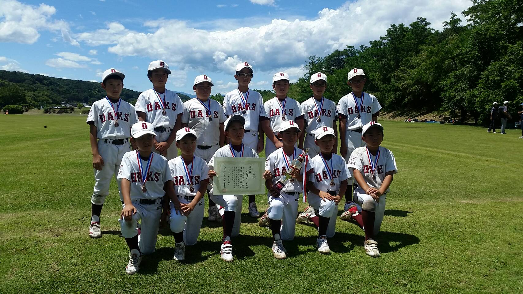 第26回 八王子市長杯争奪少年野球大会 第三位・南大沢オークス 2019年6月16日