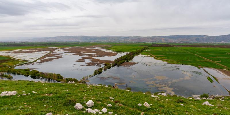Vue du marais depuis les colines