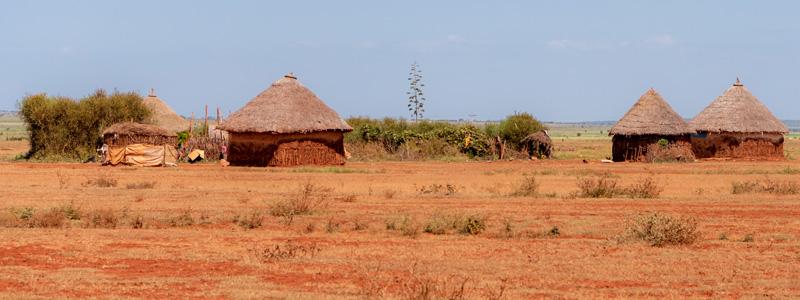 Village trditionnel autour de Negele