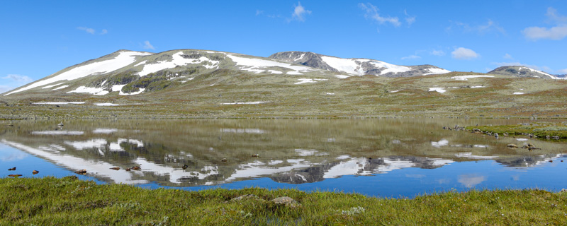 Landscape of the Valdres valley