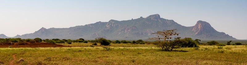 Paysage proche de la frontière kenyane