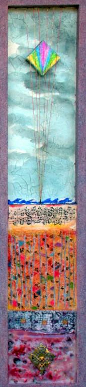 """""""Allegoria""""- tecnica mista su legno (20x85) di V.VECCHI"""