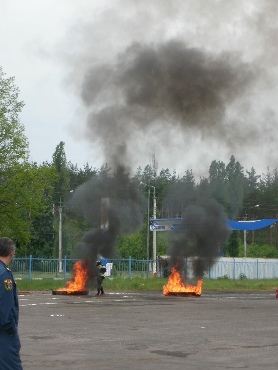 Прохождение пожарной эстафеты