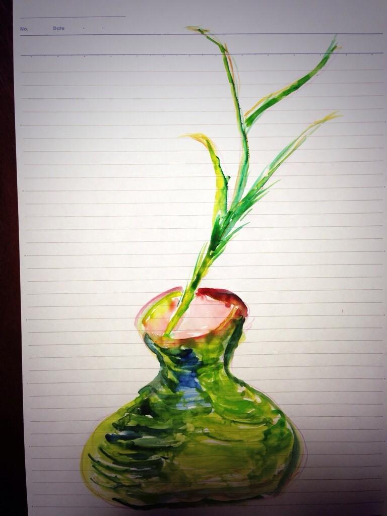 2013. 『花瓶と茎』A4
