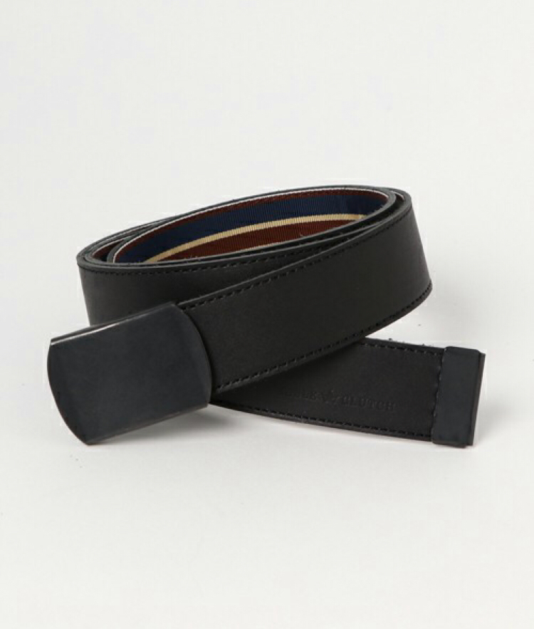 2018.3.3.  SABLE CLUTCH 2FACE TRAD LEATHER BELT-D.BLACK BUCKLE 定価3700円