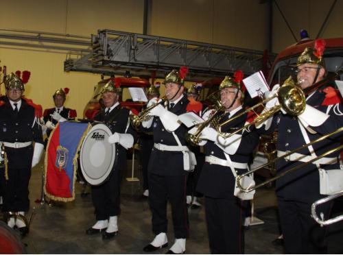 La fanfare des pompiers du bataillon d'Altkirch a animé l'inauguration
