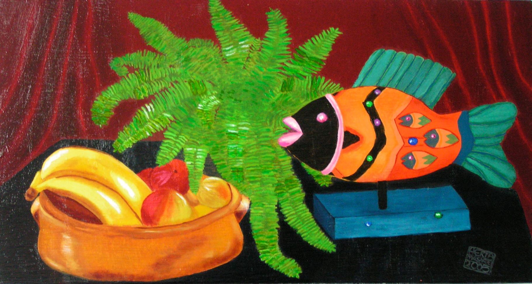 Fisch mit Obst - 30 x 56 cm