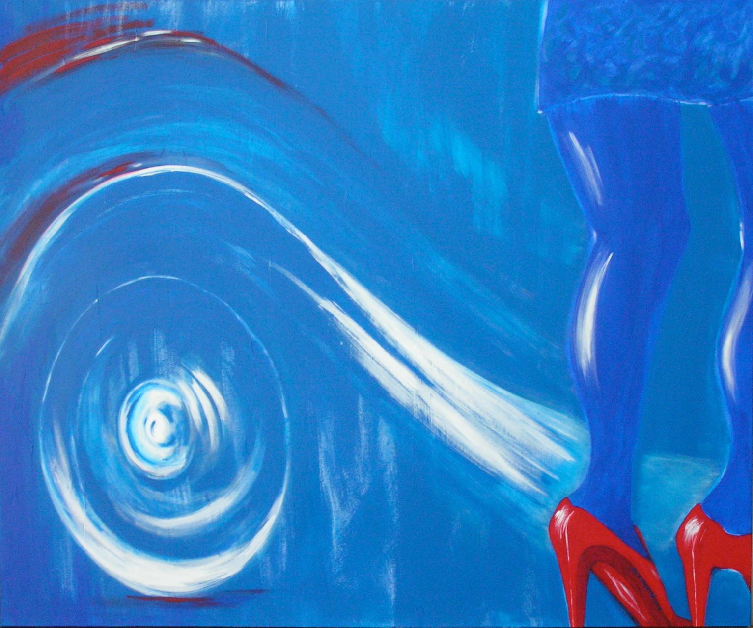 Rote Schuhe - 120 x 100 cm