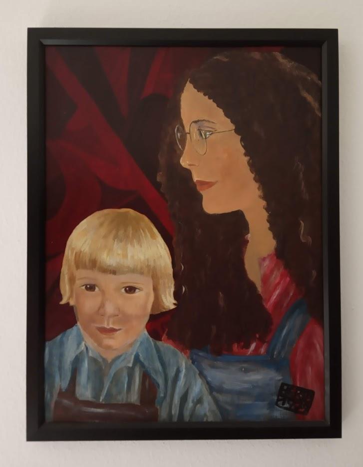 Selbstportrait mit Bernhard 1979 - unverkäuflich