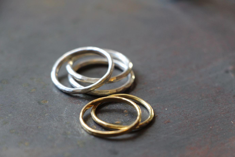 Ringe schmal in Gold & Silber