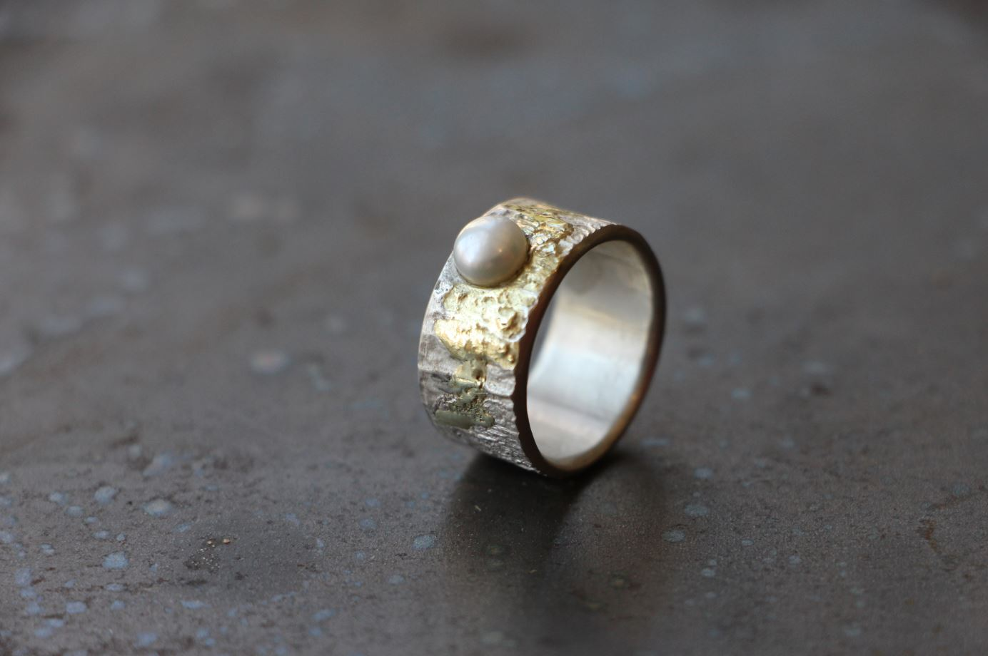 Perle Silber & Gold