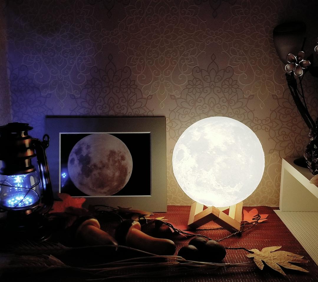月の光がお出迎え
