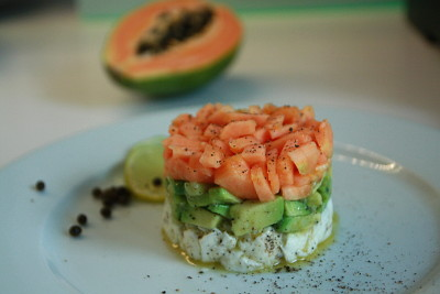 Mozzarella-Avocado-Papaya-Salat à la Anne