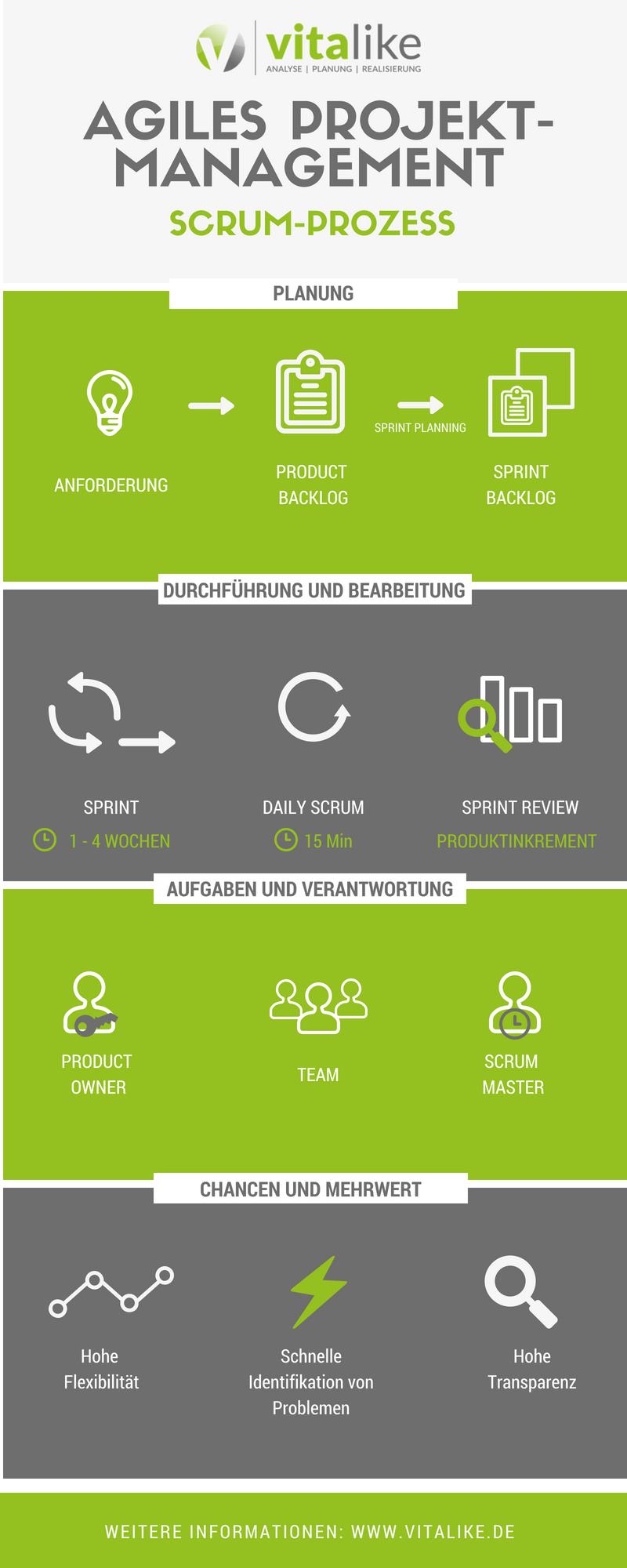 SCRUM-Modell vitalike | vitalike Unternehmensberatung | SCRUM vitalike | Management Consulting