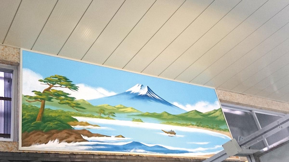 新たに描かれた田中みずき絵師作の富士山
