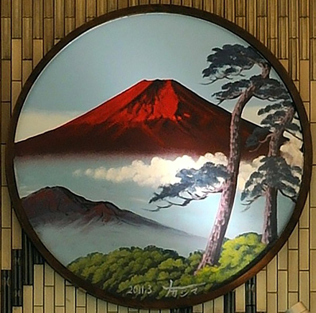 赤富士・円型ペンキ絵(男湯)