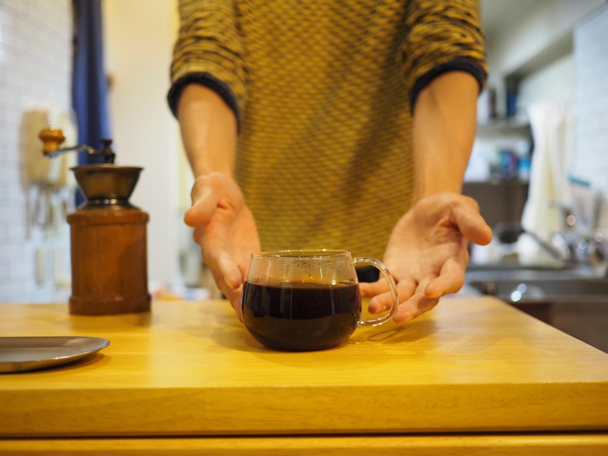 自慢の水出しコーヒー