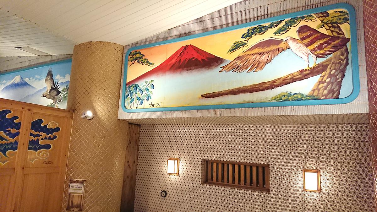 中島絵師による赤富士、そして二鷹、三茄子(弁財天)
