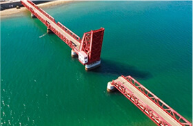 長浜大橋(赤橋)