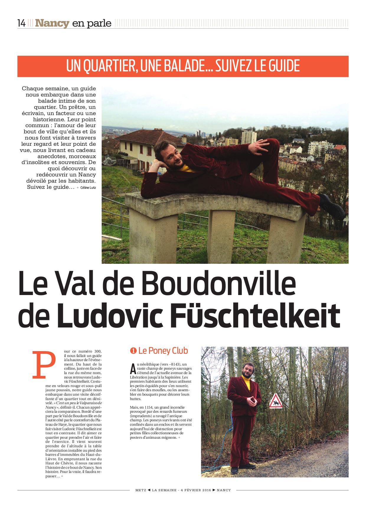 La Semaine de Nancy : Visite du Quartier Boudonville (2016)