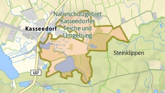Karte Kasseedorfer Teiche