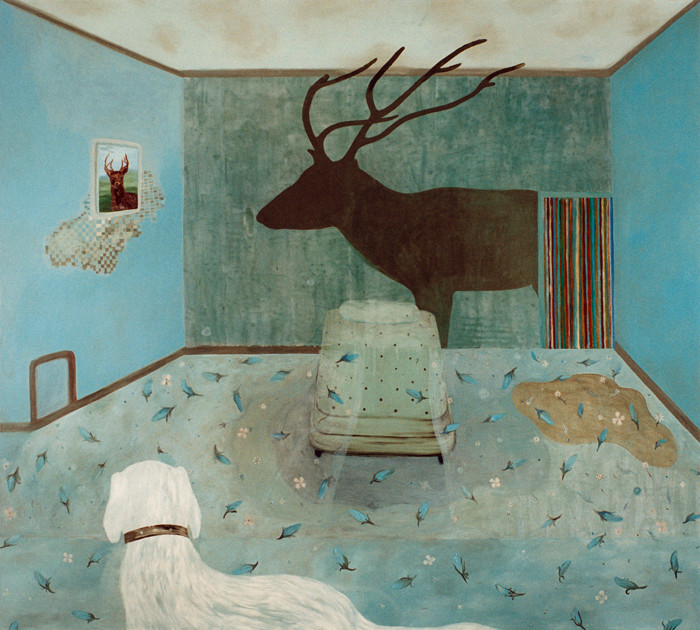 """O Mammie-blue""   olieverf - linnen   180 x 200 cm.   1996"