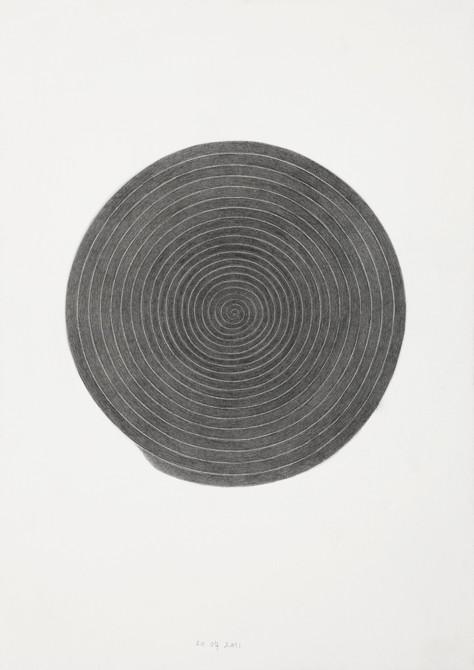"""""""expanding consciousness II""""  potlood - papier  30 x 21 cm  2011"""