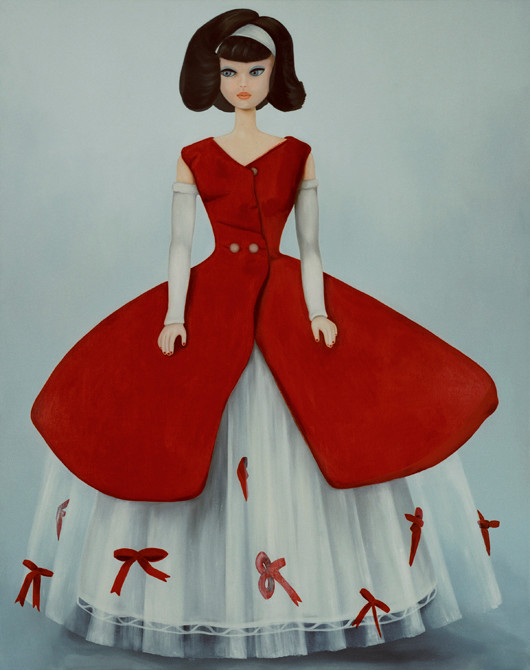 z.t. barbie no.3  olieverf - linnen  190 x 155 cm.  2003