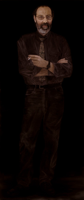 """Peter Hartjesveld""  olieverf - linnen  200 x 85 cm.  2005"