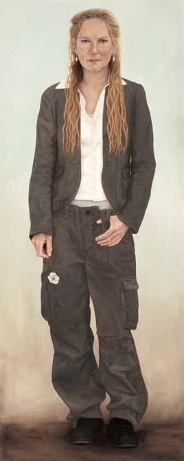 """""""Dorine Latenstein""""   olieverf - linnen   188 x 75 cm.   2006"""