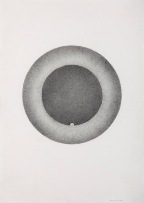 """""""van einde naar begin""""  potlood - papier  30 x 21 cm  2010"""