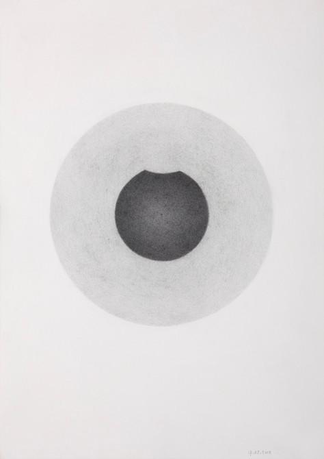 """""""van iets naar niets""""  potlood - papier  30 x 21 cm  2010"""