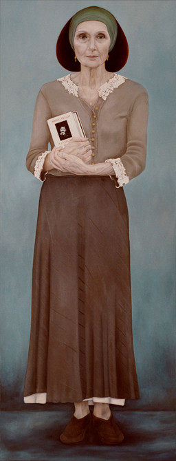 """Yvette Clémentine Rouzières""  olieverf - linnen  165 x 65 cm.  2004"