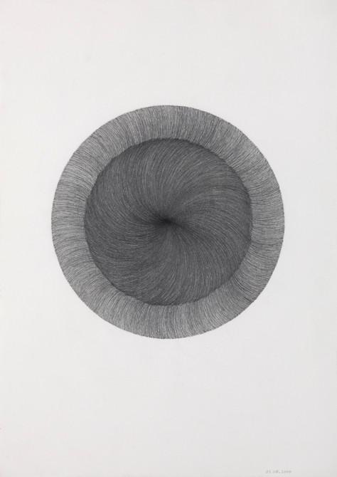 """""""verschijnen""""  potlood - papier  30 x 21 cm  2010"""
