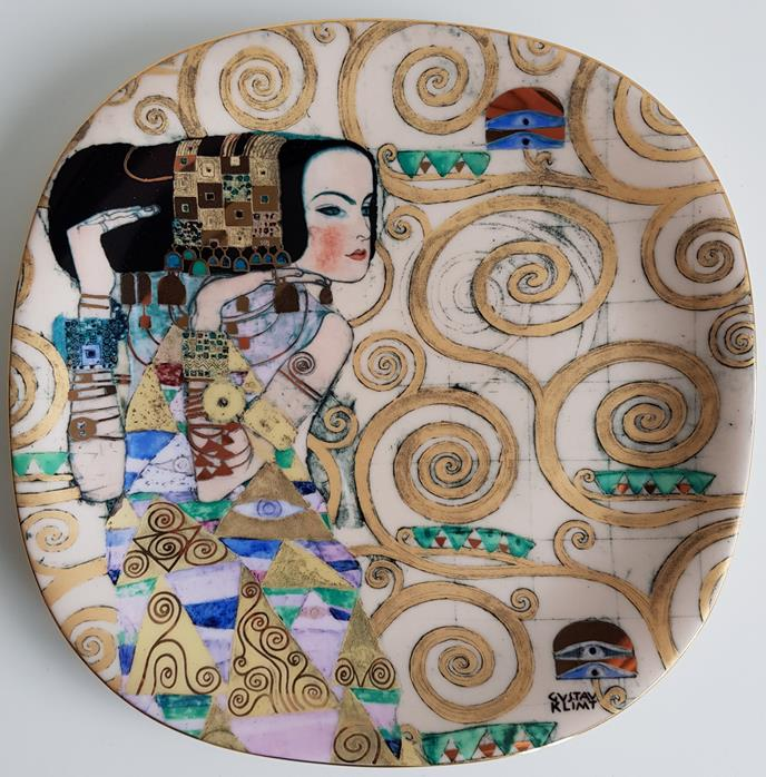Dekorativer Porzellan Teller - Gustav Klimt