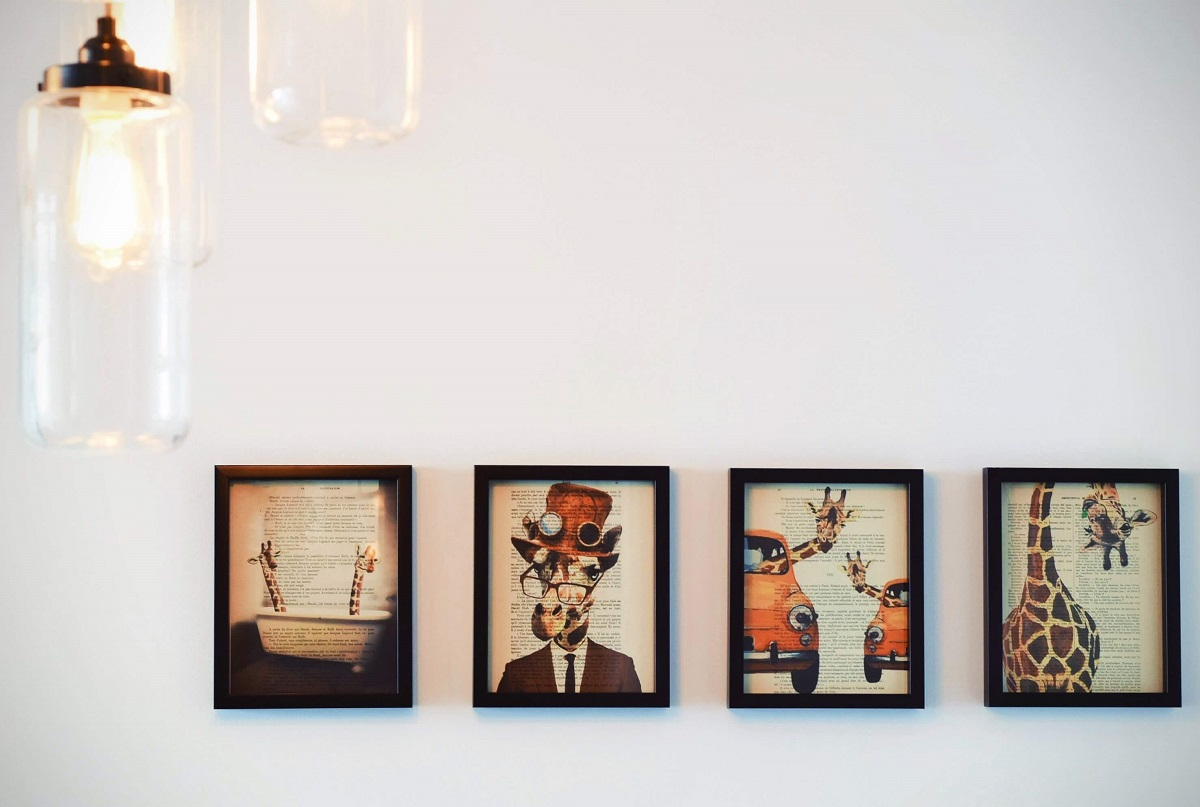 Vier Galerie Gemälde - modern - zeitgenössisch - 21. Jahrhundert