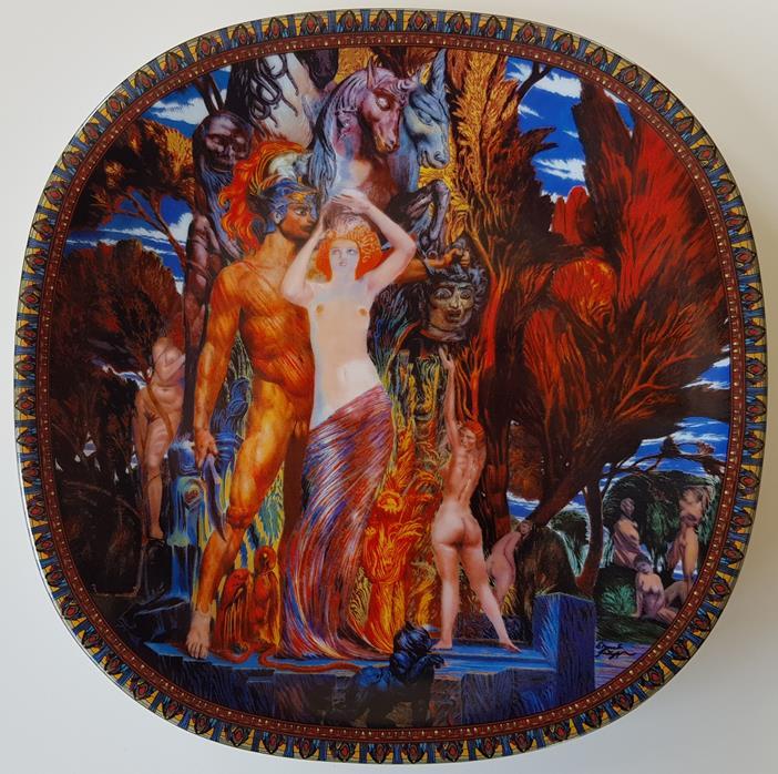 Aphrodite und Persus - Zierteller