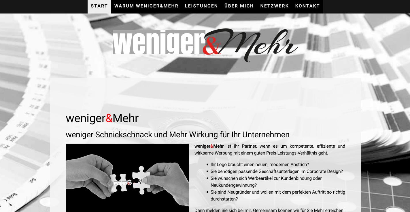 www.weniger-und-mehr.de