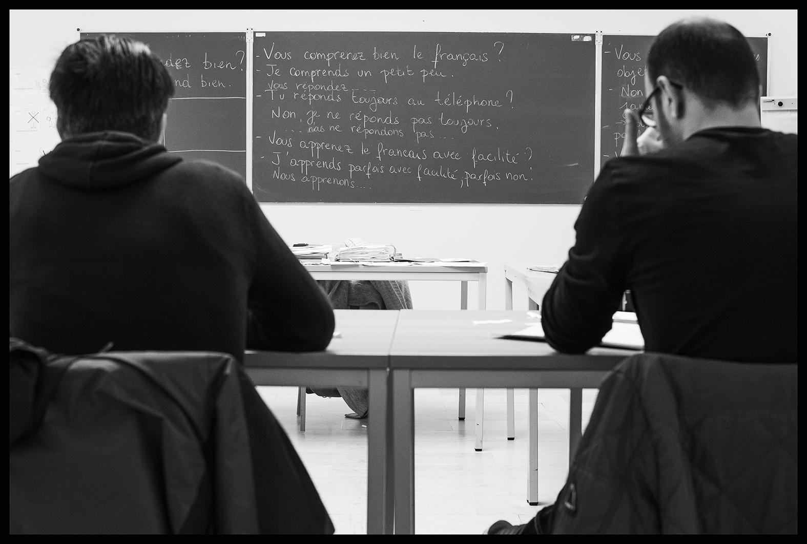 Classe de français langue étrangère