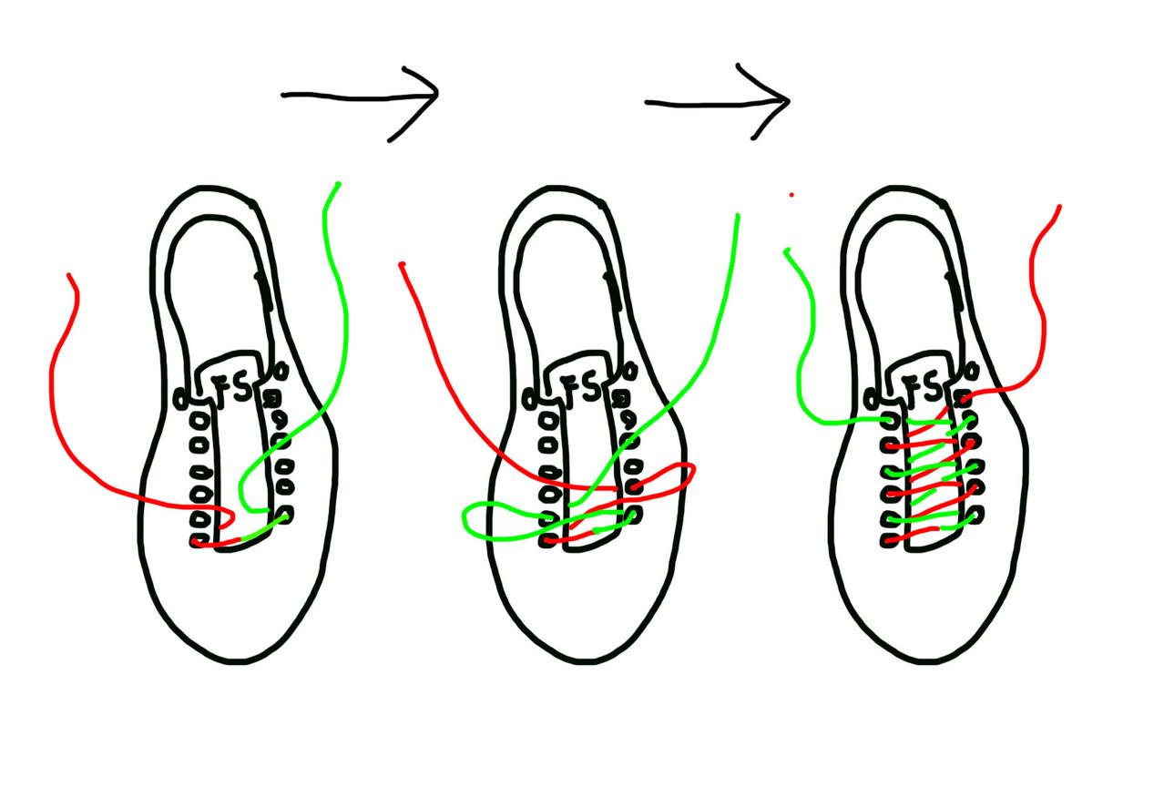 通し の 方 紐 靴
